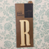 Scrapbooksrus Papermania Bare Basics Wooden Adhesive LETTER R Wood Scrapbooksrus