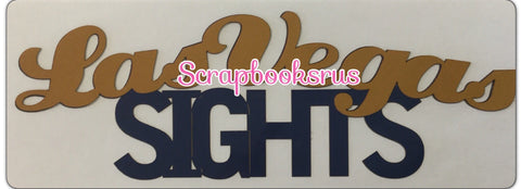 LAS VEGAS SIGHTS Laser Cut Scrapbooksrus