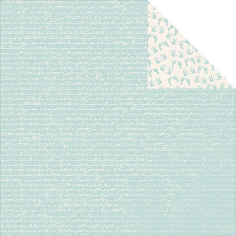 "Kaisercraft Pitter Patter TINY BUNDLE Scrapbook Baby Paper 12""x12"""