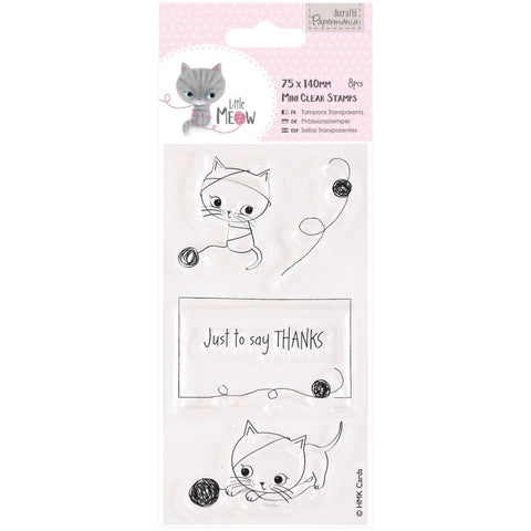 Docrafts Papermania JUST TO SAY Little Meow Mini Clear Stamps - Scrapbook Kyandyland