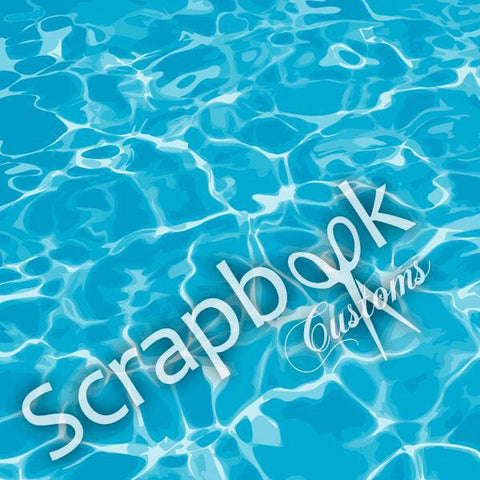 Scrapbook Customs POOL WATER 1 Sports Sheet - Scrapbook Kyandyland