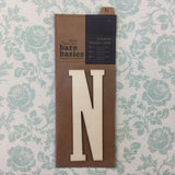 Papermania Bare Basics Wooden Adhesive LETTER N Wood