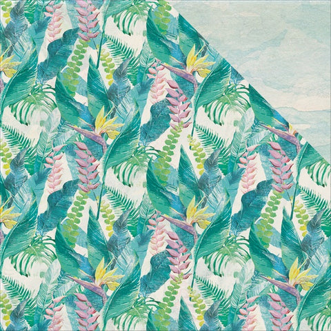 "Kaisercraft Island Escape BIRD OF PARADISE 12""X12"" Flower Sheet Scrapbooksrus"