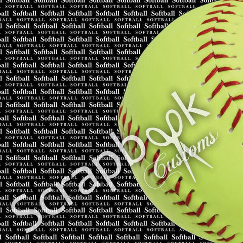 Scrapbook Customs SOFTBALL GO BIG LEFT 1 Sports Sheet - Scrapbook Kyandyland