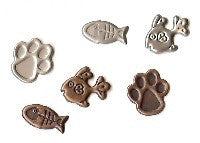 Creative Impressions ANTIQUE CAT PAW&FISH Brads 25pc - Scrapbook Kyandyland