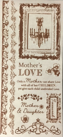 "Kaisercraft CHANTEUSE COLLECTION RUB-ON 3""X10"" Mother Brown - Scrapbooksrus"