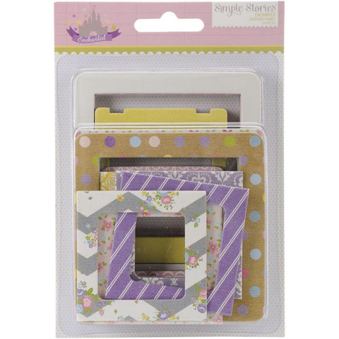 Simple Stories ENCHANTED Chipboard Frames 24pc - Scrapbook Kyandyland