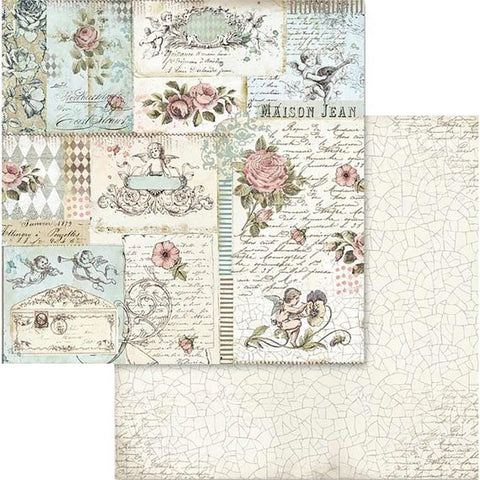 "Stamperia Pink Christmas ROSE & ANGELS SBB580 12""X12"" Scrapbook Paper Scrapbooksrus"