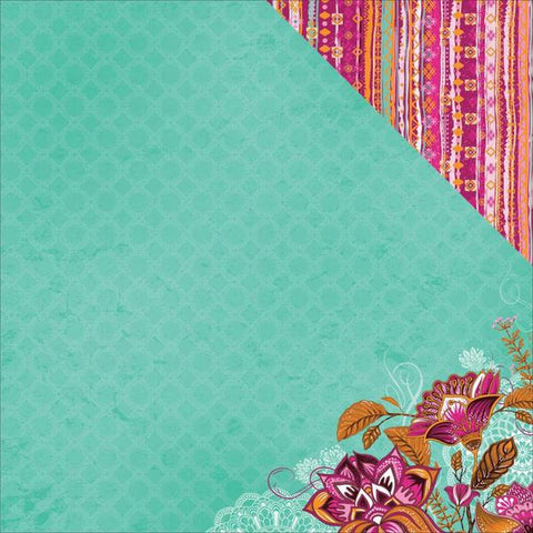 "Kaisercraft Bombay Sunset MUMBAI 12""X12"" Scrapbook Sheet"