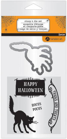 Hampton Art HALLOWEEN stamp & die set