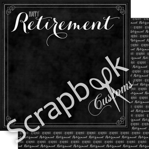"Scrapbook Customs HAPPY RETIREMENT 12""X12"" Cardstock Paper - Scrapbook Kyandyland"