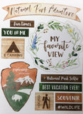 Scrapbook Customs YELLOWSTONE National Park Stickers 18 pc Scrapbooksrus