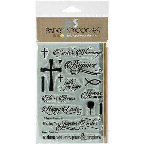 Paper Smooches EASTER BLESSINGS Acrylic Stamps 16pc - Scrapbook Kyandyland