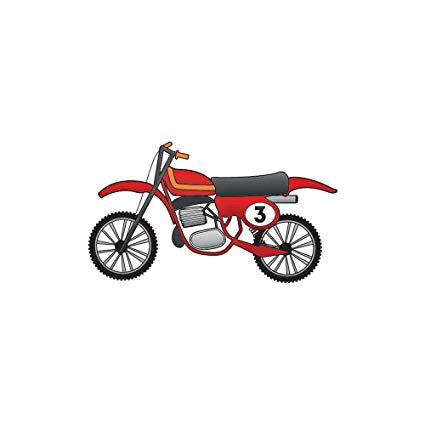 Imaginisce Snag 'em MOTORCYCLE Travel Clear Acrylic Stamps