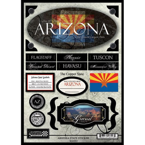 "ARIZONA Scrapbook Stickers 10""X 7 19pc - Scrapbook Kyandyland"