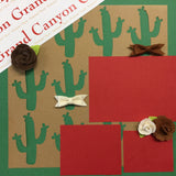 "Premade Scrapbook Page 12""x12"" GRAND CANYON BOWS"