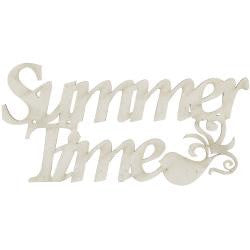 Fabscraps SUMMER TIME  Die-Cut Grey Chipboard Word - Scrapbook Kyandyland