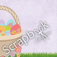 EASTER BASKET RIGHT Scrapbook Customs 12X12 Paper