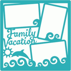 Scrapbook Kyandyland FAMILY VACATION Page Frame 12x12 - Scrapbook Kyandyland