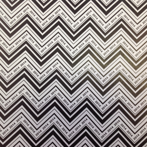 "Scrapbook Customs CHEVRON YEAR 2013 12""X12"" Paper - Scrapbook Kyandyland"