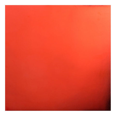"Bazzill FOIL Cardstock 12""X12"" Red 1 Sheet"