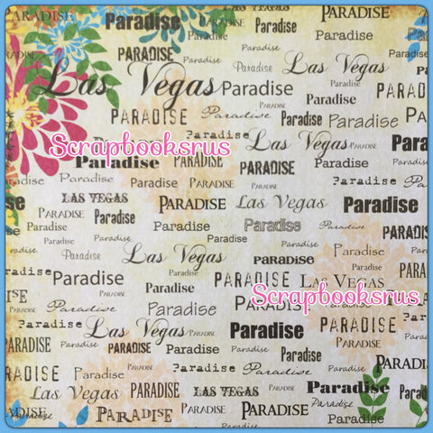 "Las Vegas Paradise Orange 12""X12"" Scrapbook Paper"