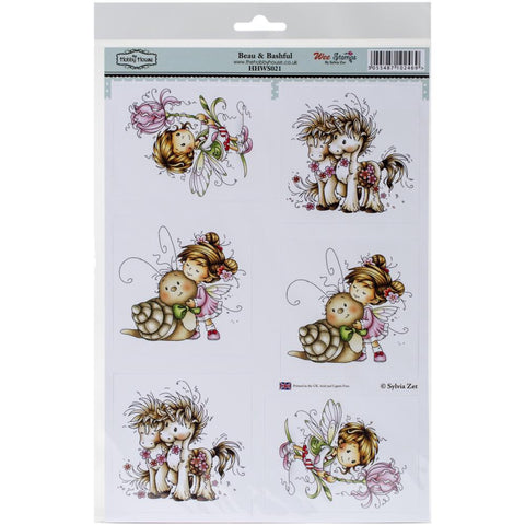 "HobbyHouse BEAU&BASHFUL Wee StampsTopperSheet 8.3""X12.2"" - Scrapbook Kyandyland"