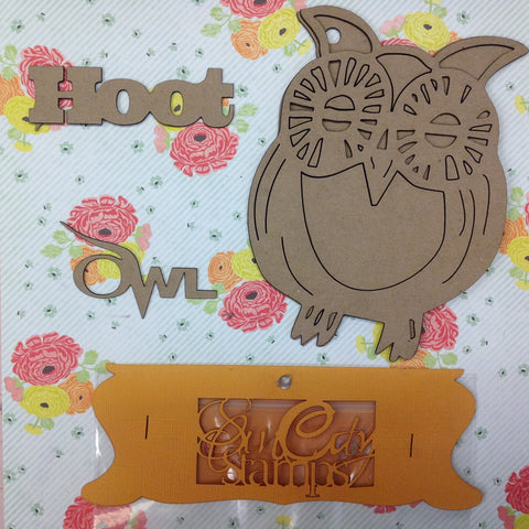 "Sin City Stamps OWL Chip Board Album 6""X7"""