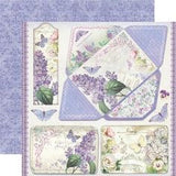 "Stamperia Scrapbooking Paper Pad 12""X12"" LILAC FLOWERS"