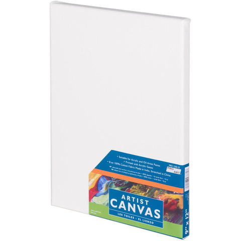 "Pro Art Stretched Canvas 9""x12"" White"