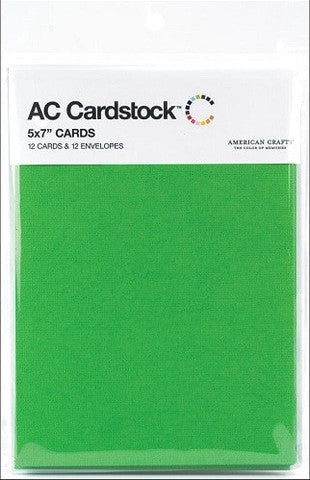 "American Crafts 12 Paper CARDS 5""X 7"" - Scrapbook Kyandyland"