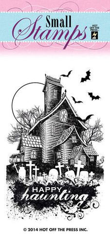 Small Stamps HAUNTED HOUSE Clear Acrylic Stamp 1pc