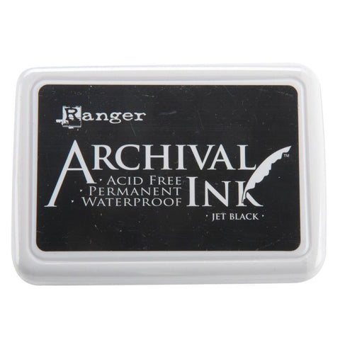 Ranger JET BLACK Permanent Waterproof Archival Ink - Scrapbook Kyandyland