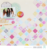 "Amy Tangerine RISE & SHINE 12""X12"" Paper Pad - Scrapbook Kyandyland"