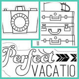 "Imaginisce PERFECT VACATION 2""X 2"" Clear Acrylic Stamp Scrapbooksrus"