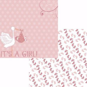 Moxxie Special Delivery NEW ARRIVAL GIRL 12X12 Scrapbook Paper