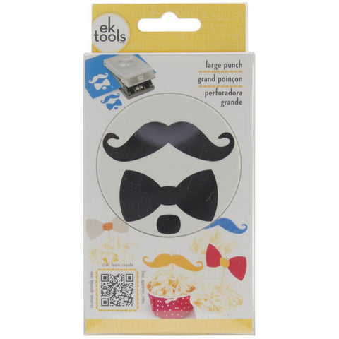 EK Tool BOW AND MUSTACHE Large Punch - Scrapbook Kyandyland
