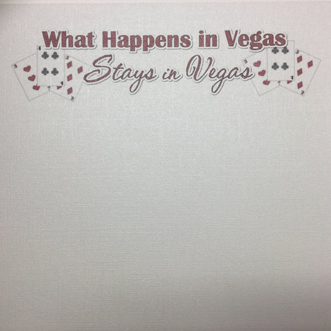 What Happens In Vegas Glass Slipper Bling Cardstock Paper