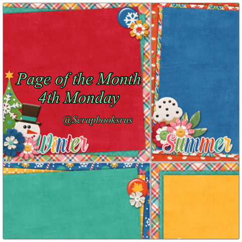 Page of the Month Scrapbook Class @Scrapbooksrus