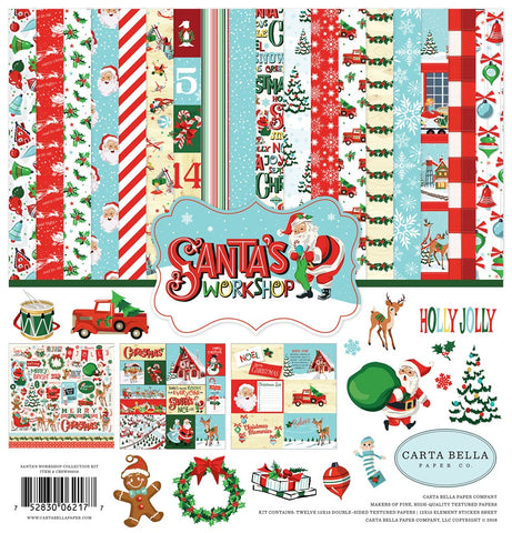 "Carta Bella SANTA'S WORKSHOP 12""X12"" Collection Kit Scrapbooksrus"