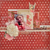 "Kaisercraft KEY TO MY HEART  Double-Sided 12""X12"" Cardstock Sheet - Scrapbook Kyandyland"
