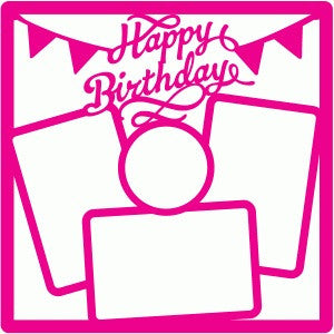 Page Frame HAPPY BIRTHDAY Scrapbook 12x12