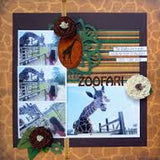 "Moxxie ZOOFARI Collection 12""X12"" Scrapbook Paper - Scrapbook Kyandyland"