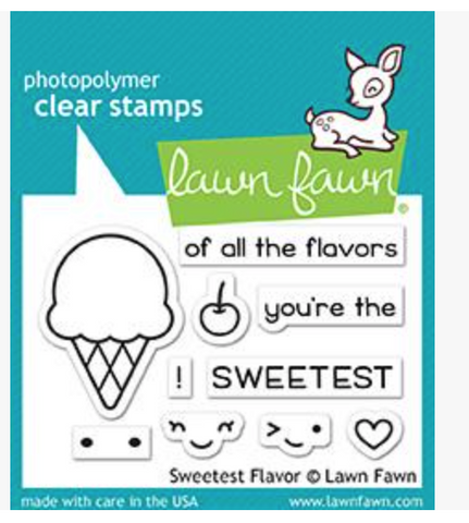 Lawn Fawn Sweetest Flavor Stamp @scrapbooksrus