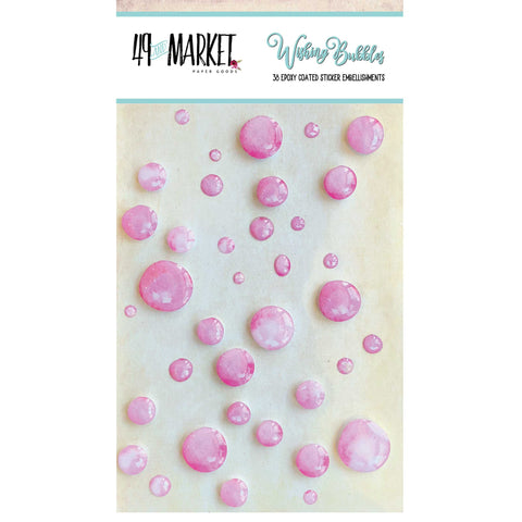 49 and Market Wishing Bubbles BUBBLEGUM 38 pc. Scrapbooksrus