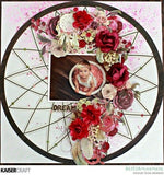 "Kaisercraft Gypsy Rose DREAMER 12""X12"" DieCut Scrapbook Paper"