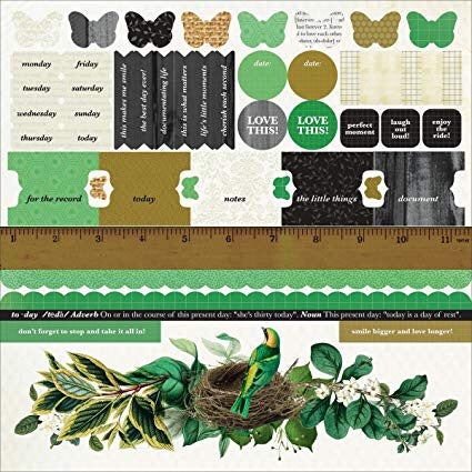 Kaisercraft LIMELIGHT 12X12 Sticker Sheet Scrapbooksrus