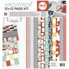 "We RM ARCHIVED Teresa Collins 12""x12"" 550 Piece Page Kit - Scrapbook Kyandyland"