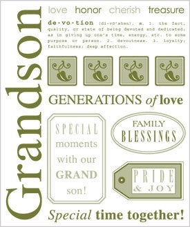 "Grandson SRM Say It With Stickers 6.25""X7.75"" 12pc  Scrapbooksrus"