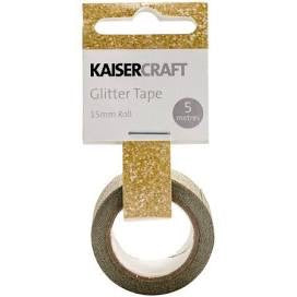 KaiserCraft Printed Tape GOLD Glitter Washi Tape